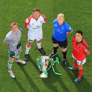 The provincial captains at the Aviva Stadium