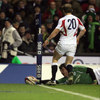 Shane Horgan stretches and scores in the corner