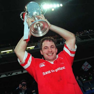 David Humphreys lifts the Heineken Cup