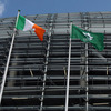 The tricolour and the IRFU flag fly proudly outside the Lansdowne Road venue, which has been Irish rugby's spiritual home since 1872