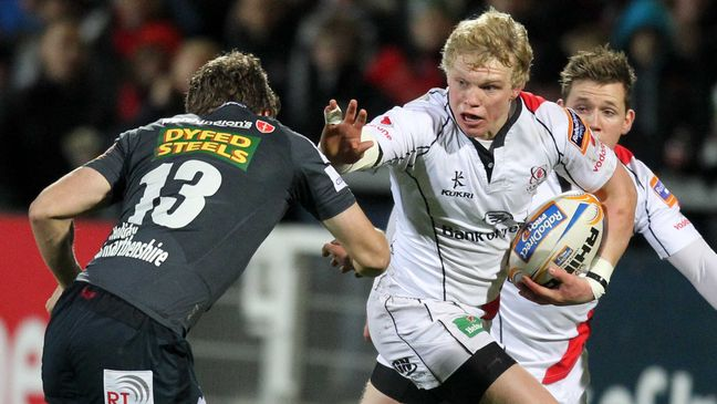 Nevin Spence playing for his beloved Ulster at Ravenhill