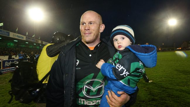 Johnny O'Connor with his son Sam