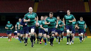 Ireland Captain's Run Session At Millennium Stadium, Cardiff, Saturday, October 10, 2015