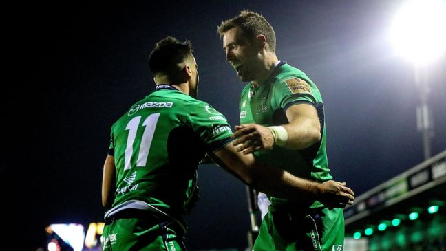 Connacht's Cian Kelleher and Craig Ronaldson