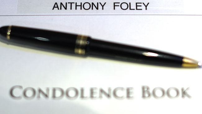 IRFU Open Book Of Condolence For Anthony Foley