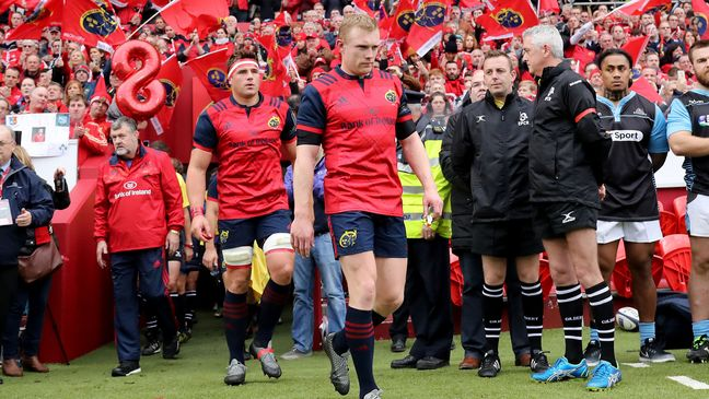 Keith Earls walks out at Thomond Park