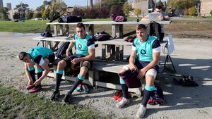 Ireland Squad Training At Chicago Lions RFC, Chicago, Thursday, November 3, 2016