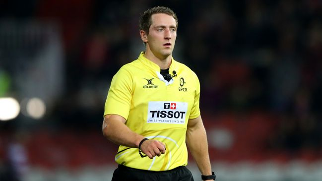 IRFU referee Andrew Brace