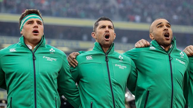 Ireland's CJ Stander, Rob Kearney and Simon Zebo