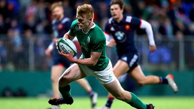 Tommy O'Brien was one of Ireland's try scorers against France last season