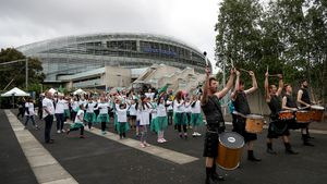 Parade For Ireland's RWC 2023 Bid Submission - Aviva Stadium To World Rugby HQ, Thursday, June 1, 2017