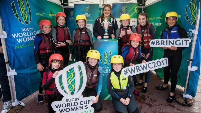 The #WRWC2017 Trophy Tour stopped at Grand Canal Dock