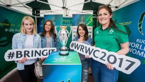 Fiona Coghlan Hosts The #WRWC2017 Trophy Tour At Grand Canal Dock, Dublin 2, Friday, July 28, 2017