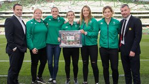 Aon Presentation To Ireland Women's World Cup Squad, Aviva Stadium, Wednesday, August 2, 2017