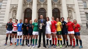 An Taoiseach Leo Varadkar Meets The WRWC 2017 Captains, Government Buildings, Dublin, Sunday, August 6, 2017