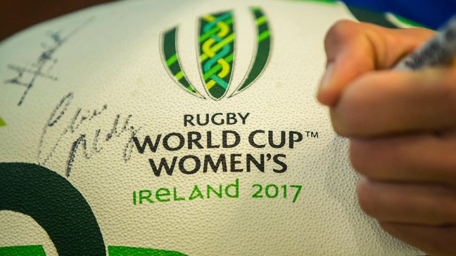 A WRWC 2017 ball signed by the captains