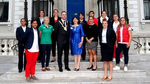2017 Women's Rugby World Cup Welcoming Ceremony, Round Room, Mansion House, Dublin, Sunday, August 6, 2017