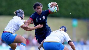 WRWC 2017: USA Women 24 Italy Women 12, UCD Bowl, Wednesday, August 9, 2017