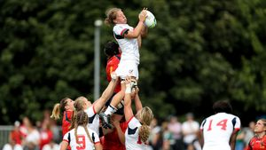 WRWC 2017: USA Women 43 Spain Women 0, UCD Bowl, Sunday, August 13, 2017