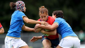 WRWC 2017: Italy Women 8 Spain Women 22, UCD Bowl, Thursday, August 17, 2017