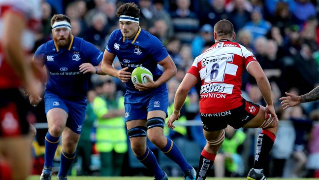 Number 8 Max Deegan in possession for Leinster