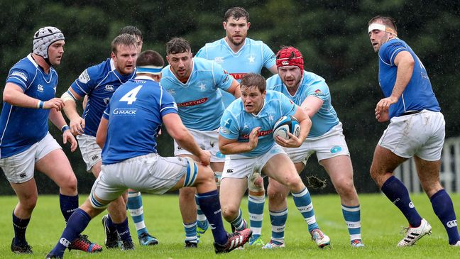 Garryowen captain Neil Cronin takes on his St. Mary's counterpart Ciaran Ruddock