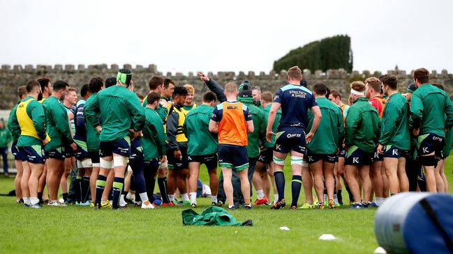 The Connacht squad at the Sportsground