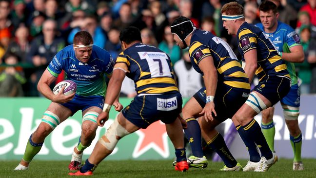 James Cannon in action against Worcester Warriors