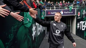 Ireland Open Training Session At The Aviva Stadium, Dublin, Tuesday, February 27, 2018