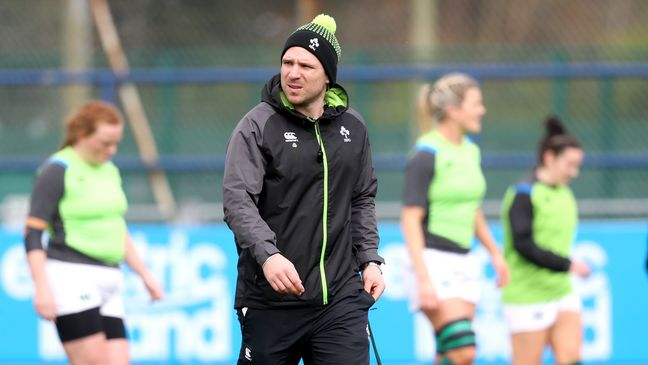 Ireland Women's head coach Adam Griggs