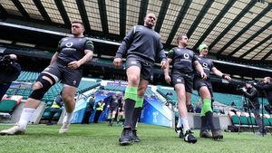Ireland Captain's Run Session At Twickenham, Friday, March 16, 2018