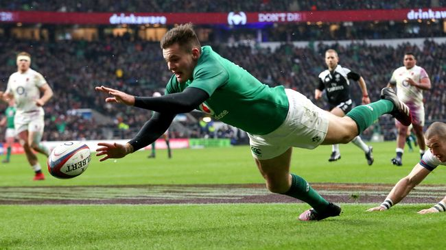 Twickenham Try Sees Jacob Stockdale Set New Six Nations Record.