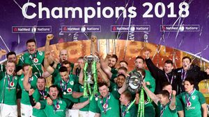 Ireland 2018 NatWest 6 Nations Trophy Presentation And Celebrations, Twickenham, Saturday, March 17, 2018
