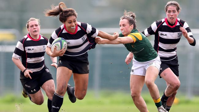 Sene Naoupu tries to break away from Niamh Byrne