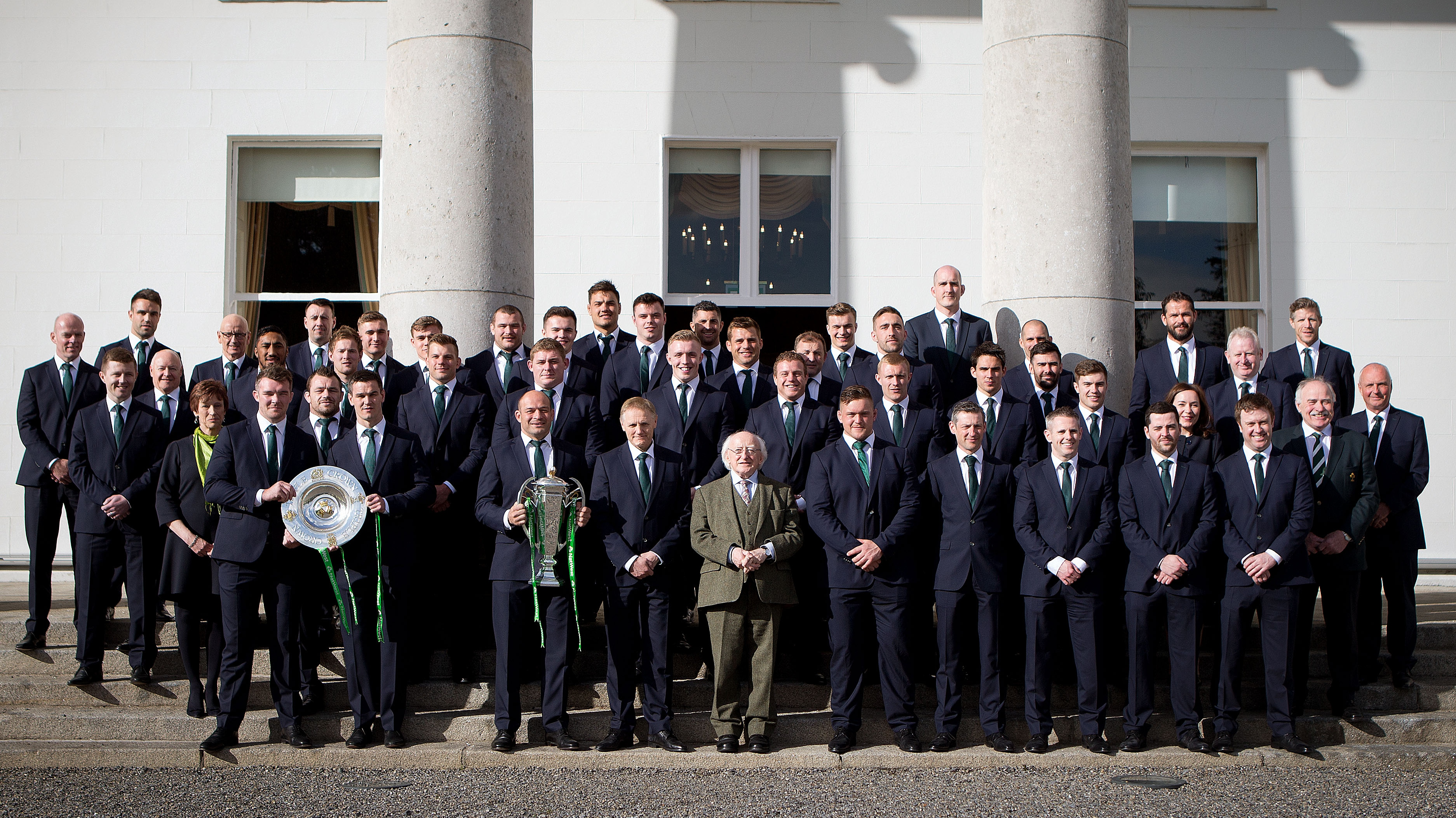 Irish Rugby Grand Slam Winners Attend President S