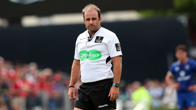 South African Berry To Referee GUINNESS PRO14 Final