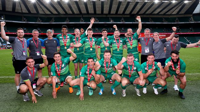 The Ireland Men's Sevens squad and management team