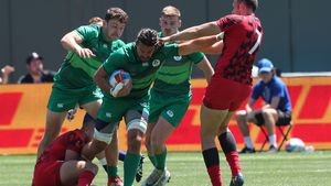 Ireland Men - 2018 Rugby World Cup Sevens Day 3, AT&T Park, San Francisco, USA, Sunday, July 22, 2018.