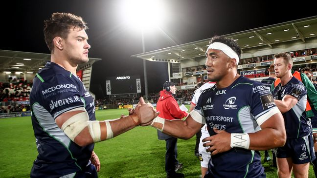 Connacht and Ireland's Quinn Roux and Bundee Aki