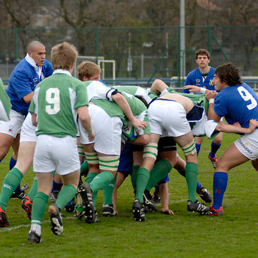 Action from Ireland's recent win over Italy in Glasgow