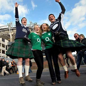 Ireland and Scotland fans mixing before last year's game