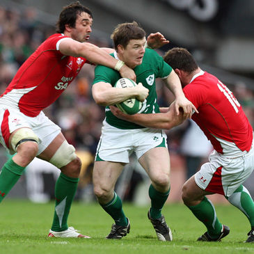Brian O'Driscoll in action against Wales in 2010
