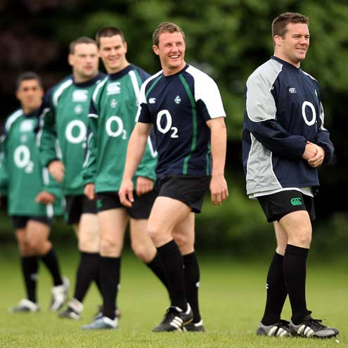 The Ireland 'A' side training in Dublin