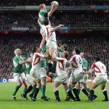 Lineout action from last year's Ireland-England clash at Croke Park