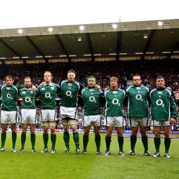 The Ireland team line-up