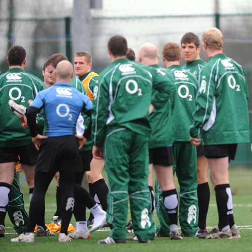 Ireland Squad Training At Belfield, Tuesday, January 22, 2008