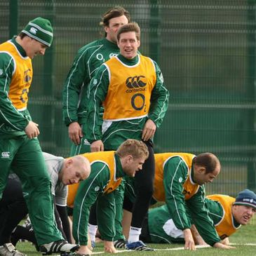 The Ireland squad trained at UCD on Tuesday