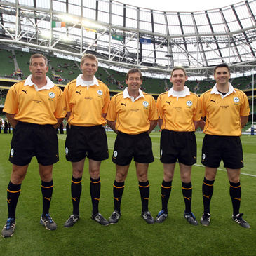 Some of Ireland's leading referees at the Aviva Stadium