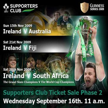 GUINNESS Series 2009 Ticket Sale