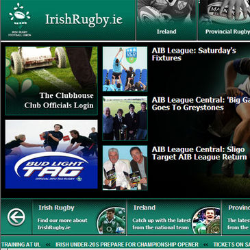 A new look homepage for IrishRugby.ie